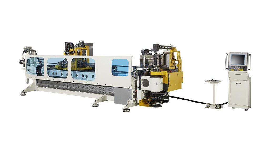 5轴数控小弯曲半径材料助推弯管机,管径76.2mm