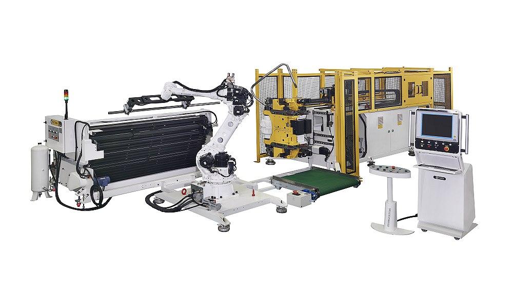 和和机械全自动弯管机结合机械手 + 自动化入料架
