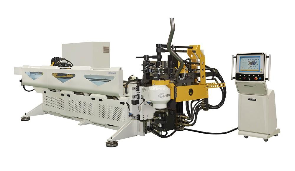 5 轴數控 OD 63.5 mm 低减薄率材料助推弯管机